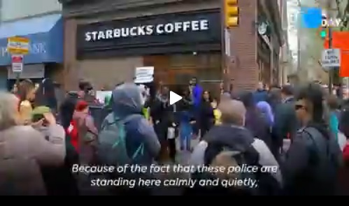 Black man videotapes Starbucks refusal to let him use restroom