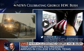 George H.W. Bush arrives at presidential library for private burial