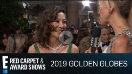 "Michelle Yeoh Wears Her ""Crazy Rich Asians"" Ring at 2019 Golden Globes"