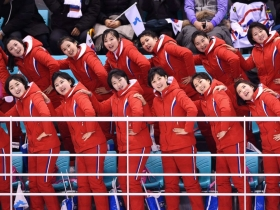 North Koreas 200-plus cheerleaders command spotlight at 2018 Winter Olympics with synchronized chants